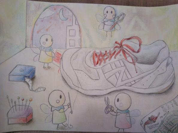 靴を修理する妖精
